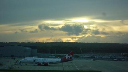 Crépuscule aéroportuaire
