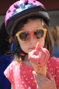 Glace a la fraise pour enfants